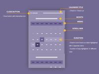 Mobile Web Date Picker wireframes