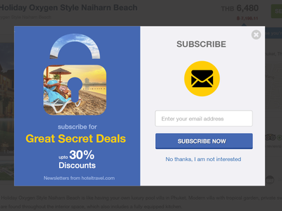 Email Subscription Popup clean dailyui deals subscribe popups