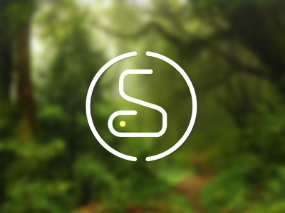 Logo monogram logo green snake letter s logo