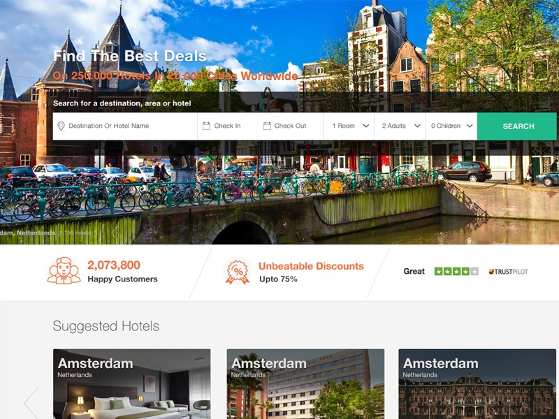 Hotel Booking user interface web design hotel booking