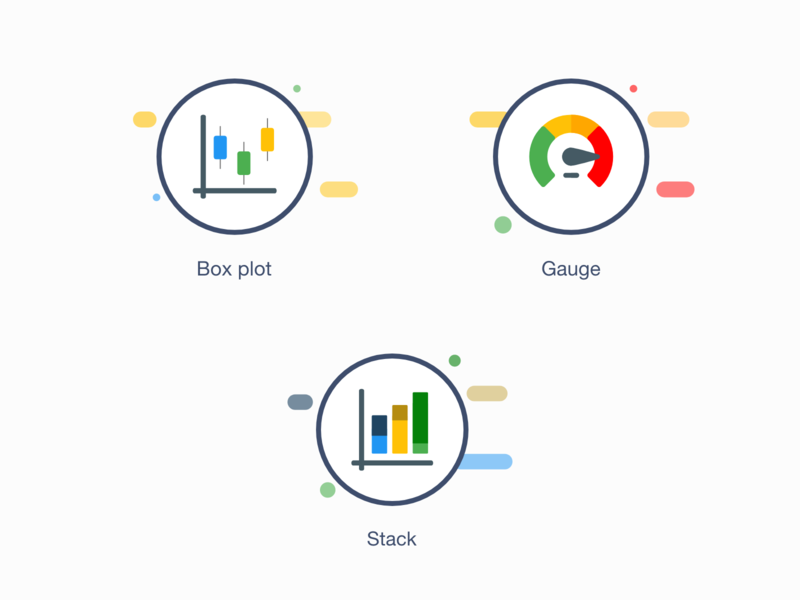 Icons - Boxplot Gauge and Stack adobe xd freebies icons pack icon set iconset icons illustration clean vector charts chart stack gauge box plot