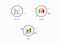 Icons - Boxplot Gauge and Stack