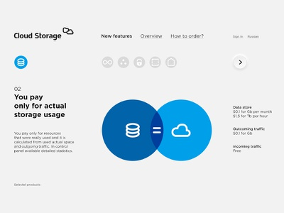 Cloud Storage web clean ui storage cloud animation