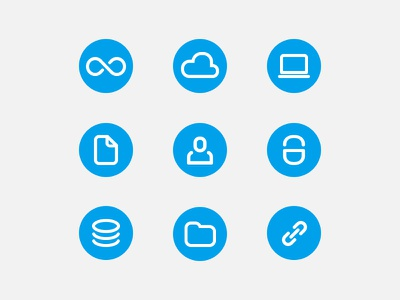 Cloud Storage Icons icons cloud storage computer file user lock coins folder link