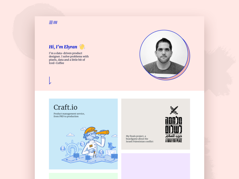 WIP // Personal Portfolio website web illustration design w.i.p ui typography branding brand pink portfolio personal wip