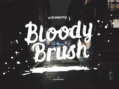 Bloody Brush Typeface hand lettering brush lettering font design typeface design