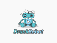 Drunk Robot Logo Concept