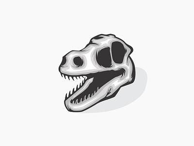 Skull illustration skull raptor dinosaur