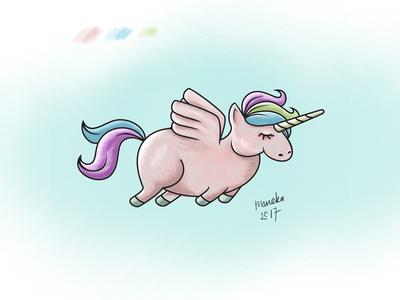 Flying Unicorn digitalpainting digitalart wacom photoshop character illustration unicorn