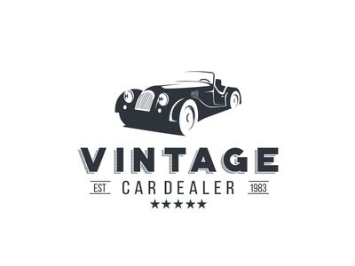 Vintage Car Dealer retro wheels dealer car vintage classic