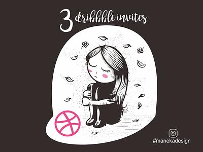 3 Dribbble Invites Dribbble instagram on invites dribbble