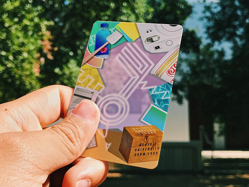 Dorm Room Keycard bless-up securing-the-dorm-alert major-key after-laughter paramore dorm-room university college keycard mockup