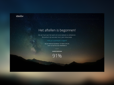 Launch redesign company website corporate website splash redesign