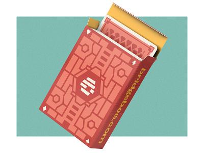 bridgebee cards logo vector branding hive bee spade diamond heart ace product design bridgebee playing cards playing