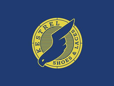 Kestrel Flash Challenge logo lock-up yellow blue sneakers wings shoes bird kestrel