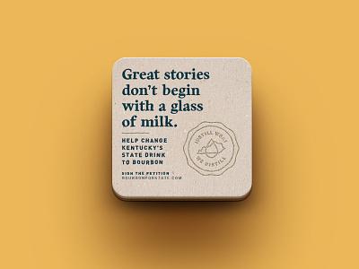 B4S - Great Stories placemat coaster bar milk bourbon for state design bourbon ky louisville kentucky