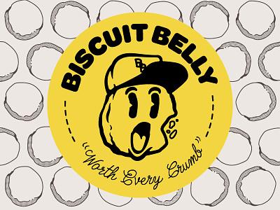 Biscuit Belly logo 1940s seal vector design logo illustration ky louisville kentucky belly biscuit