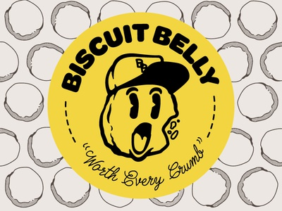 Biscuit Belly logo 1940s seal vector design logo illustration ky louisville kentucky belly biscuit