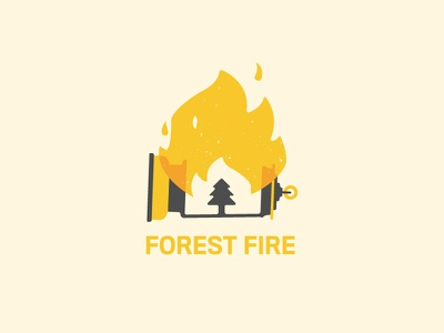 Forest Fire 🔥Flash Challenge ky branding vector logo kentucky louisville campfire lantern black and yellow nature agency design challange flash fire forest