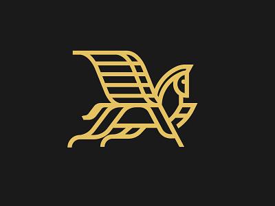 Unused Pegasus Mark greek mythology elegant greek pegasus branding design vector logo illustration ky kentucky louisville horse
