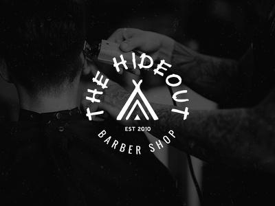 The Hideout Logo traditional teepee barber logo barber shop barber logo designer logo design logo identity icon branding brand