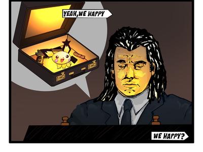 WE HAPPY? - Pulpfiction Illustration