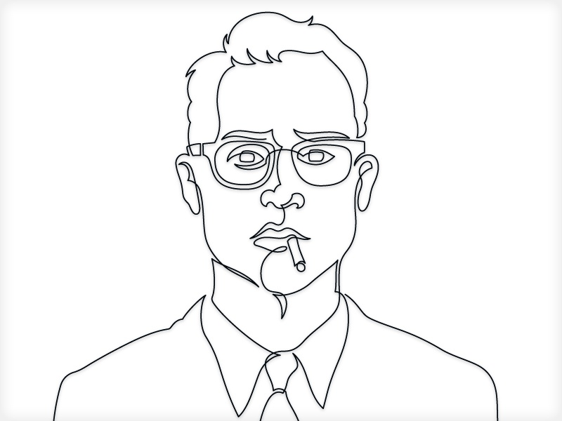 Single Line Ascii Art Faces : Smoke em if you got by von glitschka dribbble