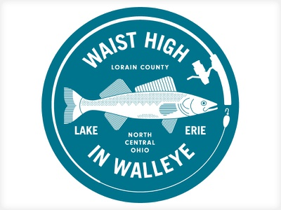 Waist High in Walleye vonster logo branding promotional tourism fishing
