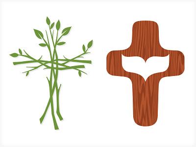 Church Identity vonster vector illustration logo branding church cross ministry