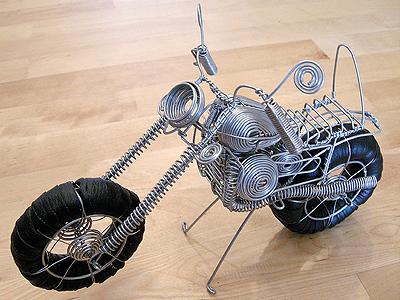 Motorcycle Wire Sculpture photo sculpture