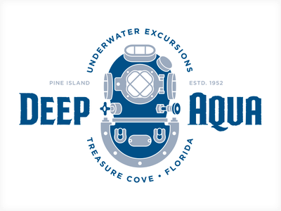 Deep Aqua dvg iconic logo branding vonster