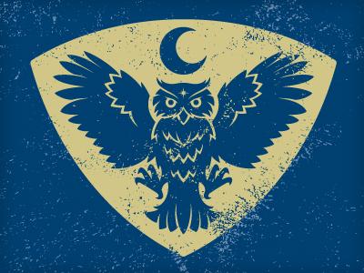 Night Owl Society vonster vector illustration character logo brand icon