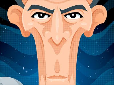 Grand Moff Tarkin halftone shading star wars caricature vonster