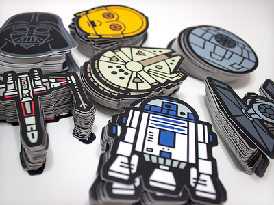 Stick with the Force! geek scifi star wars stickers vonster