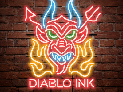 Diablo Ink dvglab vector illustration neon vonster