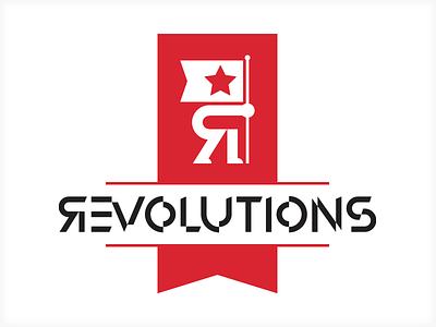 Revolutions custom type event tedx logo identity brand vonster