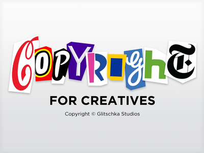 Copyright for Creatives title graphic lettering copyright vonster