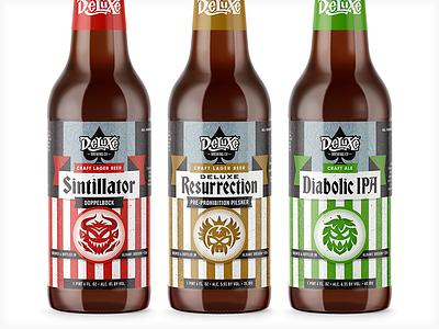 Craft Brewery Labels branding packaging label brewing craft beer vonster