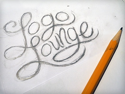 Rough Pencil vonster sketch branding typography hand lettering drawing
