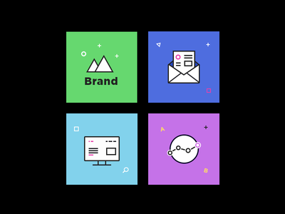 Icons colorful set clean flat ui design ecommerce e-commerce icons
