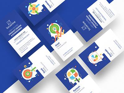 Locusnine Business Card logo icon branding illustration vector illustrator design
