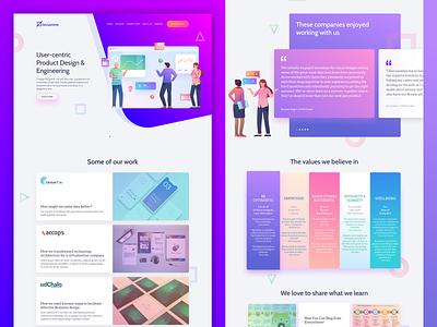 Locusnine Website Design branding illustraion website ux ui design