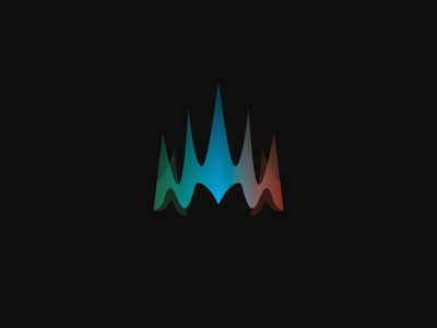 Borealis Crown crown transparency glass gradient logo lights northern borealis aurora