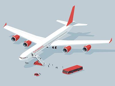 Flat airways! airways airplane flat iran design illustration