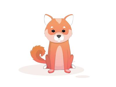 Corgiiii dog icon red dog art dog persona design ui illustration illustration art corgi