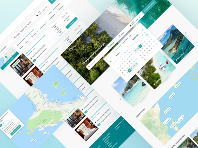 Ocean. Travel concept travel agency map calendar search travel app booking travelling travel ux graphic design landing page interface design interface design ui