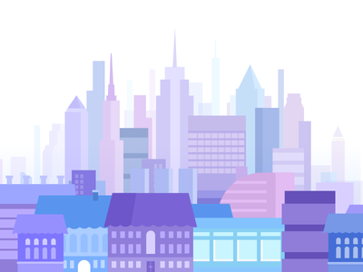 Big city houses buildings graphic design ny megapolis city illustration