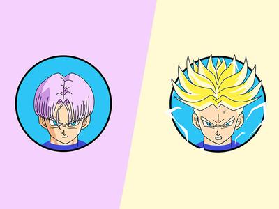 Trunks dragon ball z character trunks illustrator illustration drawing dbz