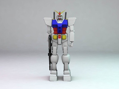 Gundam RX-78-2 rigging texturing modeling 3d design 3d cinema 4d c4d robot gundam