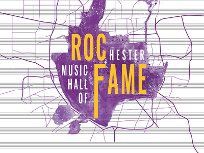 RMHF Ceremony Poster photoshop adobe poster design poster hof hall of fame music hall of fame rochester music hall of fame contest rmhf rochester